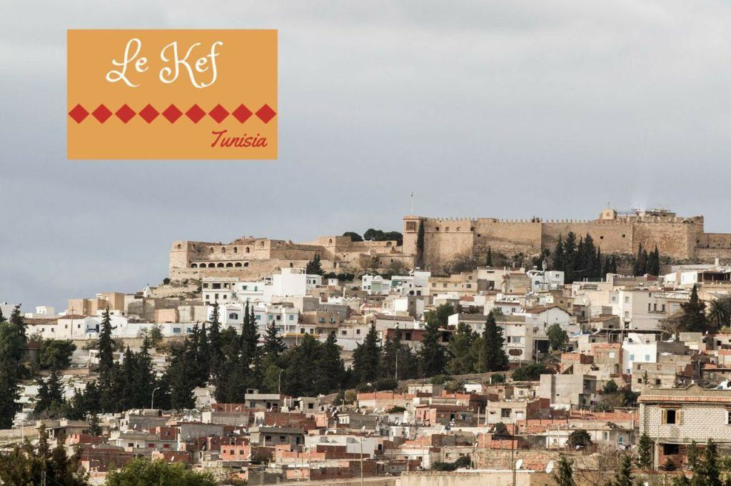 Overlooking the hilltop town of Le Kef Tunisia.