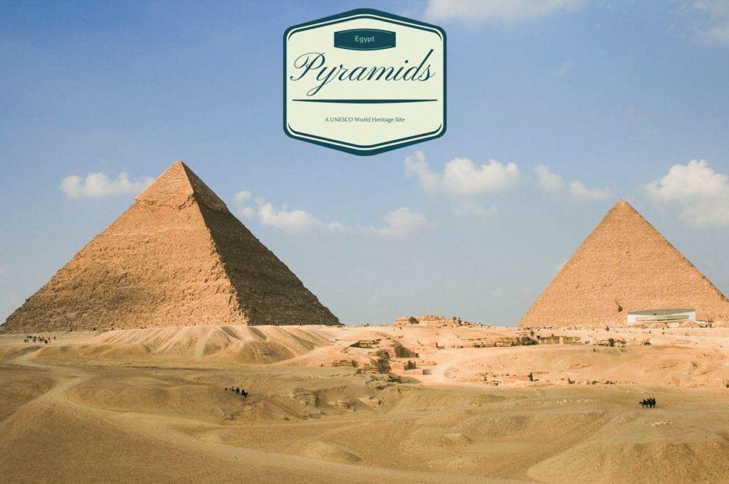 Pyramids of Giza Egypt.