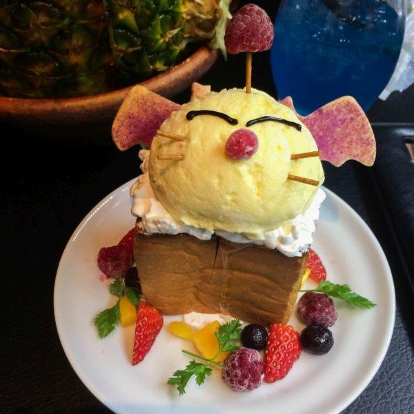 Cute dessert with anime animal designed into it.