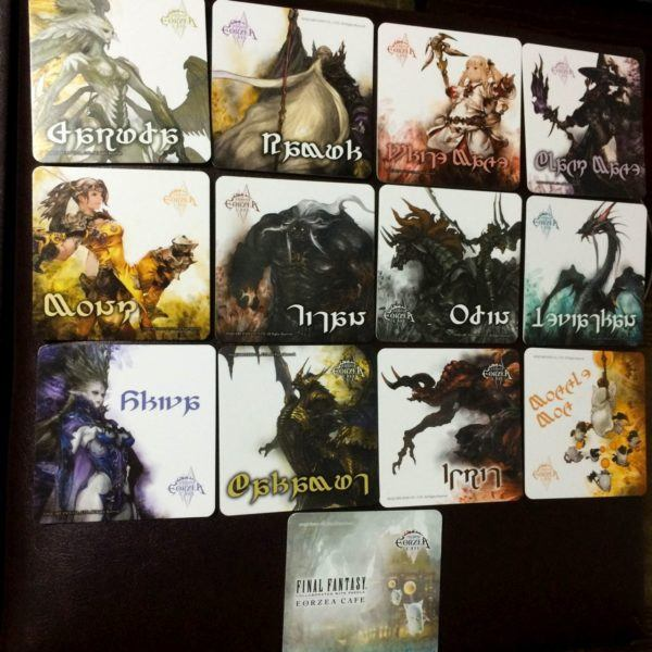 Cards from Final Fantasy.