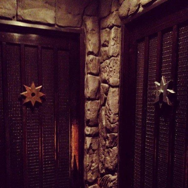 Doors on the Ninja restaurant.