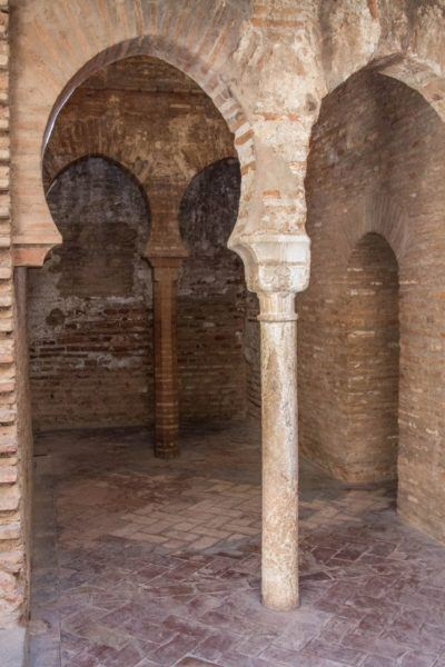 Arches and columns are everywhere in the Alhambra.
