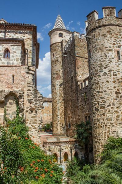 The towers and exterior of the monastery.