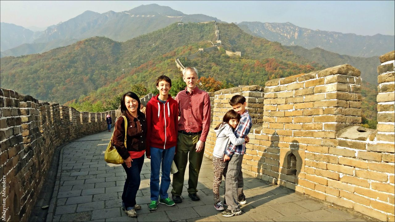 The family on the Great Wall.