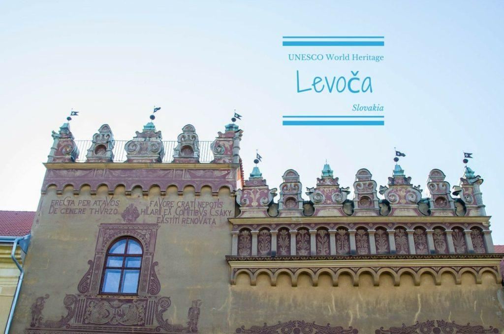 Old town in Levoča Slovakia.