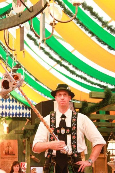 Oompah music led by this guy was definitely fun to listen to!