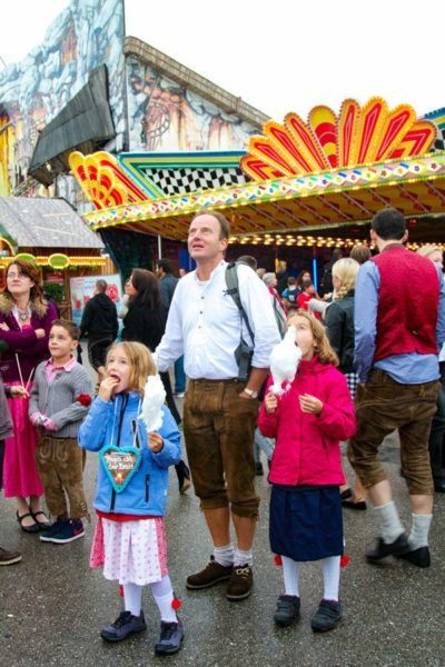Kids and adults alike dress up, eat junk food, and have a blast at the Oktoberfest.