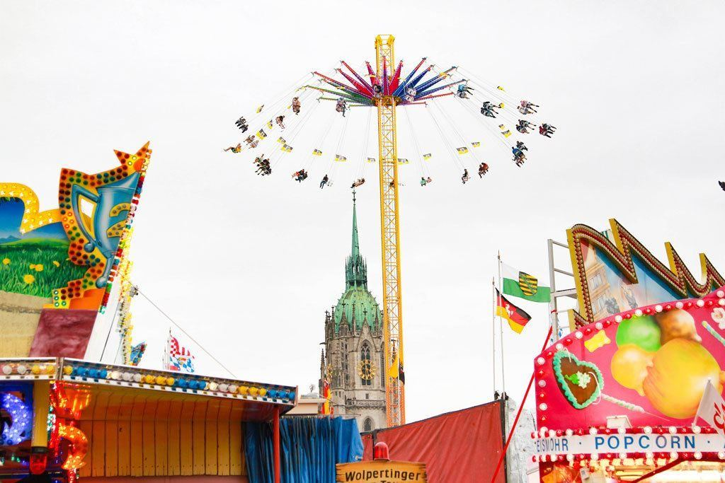 Festival rides make it fun for kids of all ages.