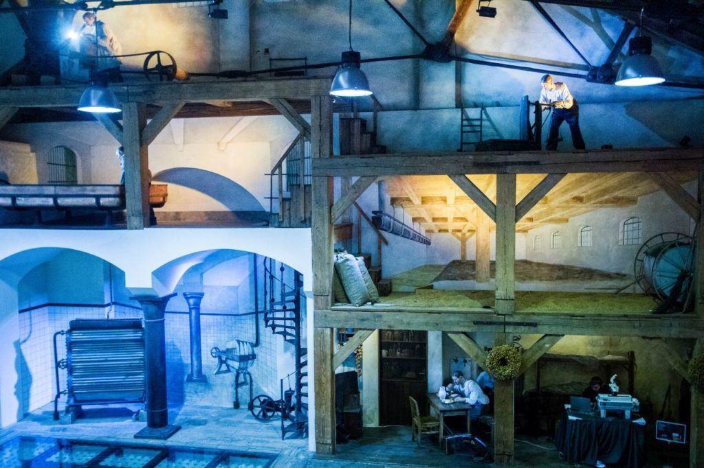 Model of beer factory in Pilsen.