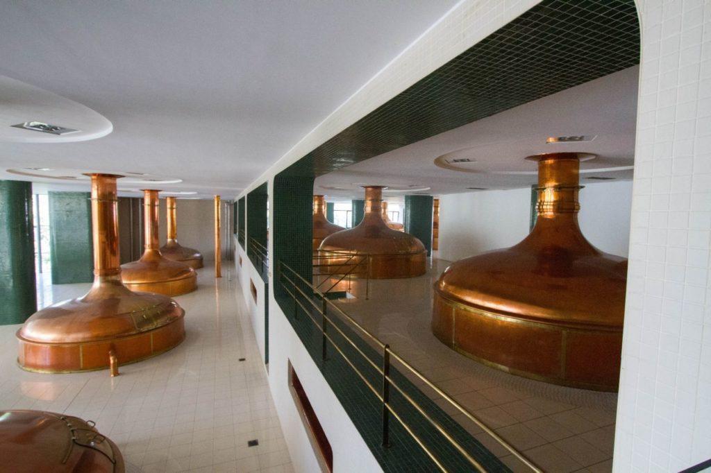 The old copper Fermentation Tanks in Pilsen.