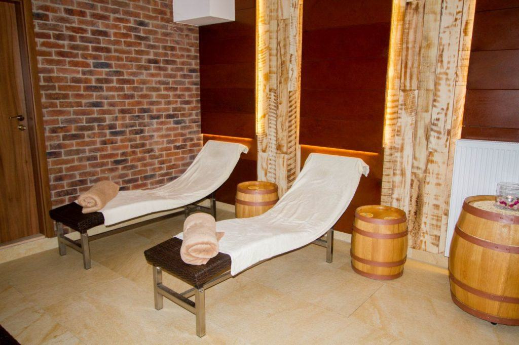 Relax room at the Purkmistr beer spa