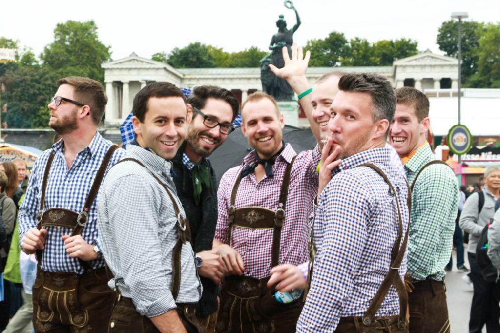 Making new friends is one of the best of the 10 reasons to go to the Oktoberfest.