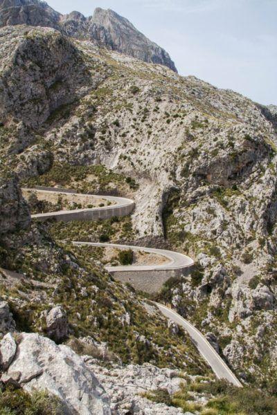 The Serra de Tramuntana is full of curves and switchbacks.