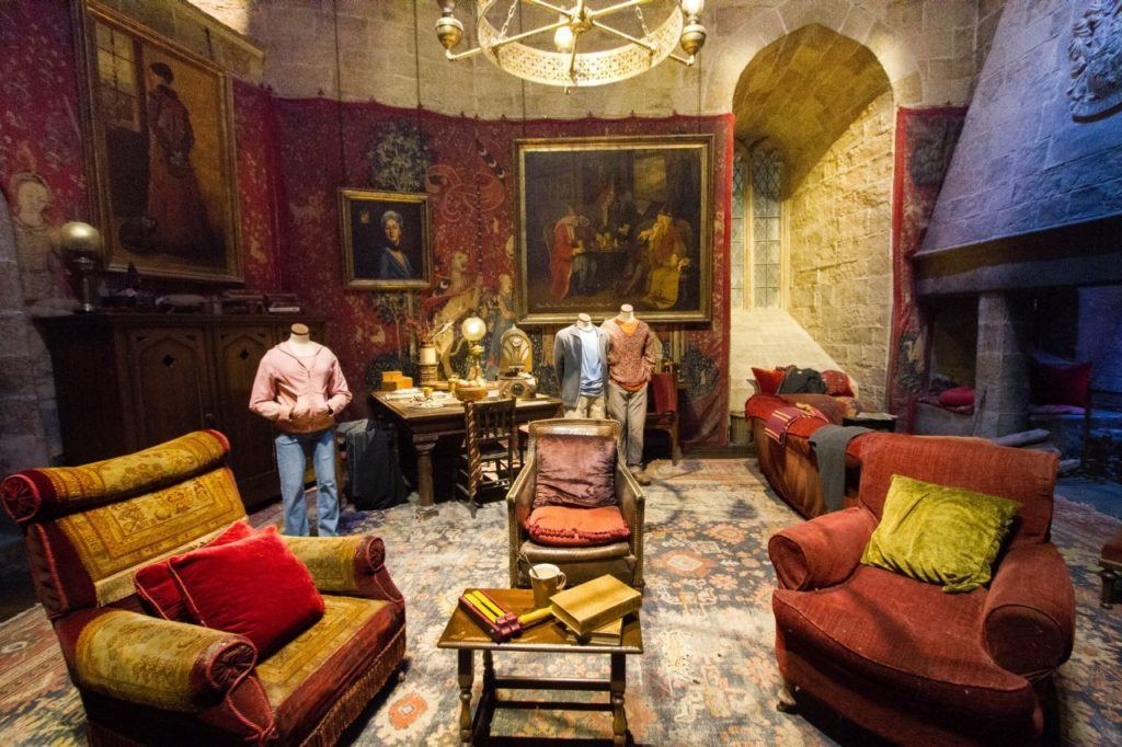 The main sitting room for Gryffindor.