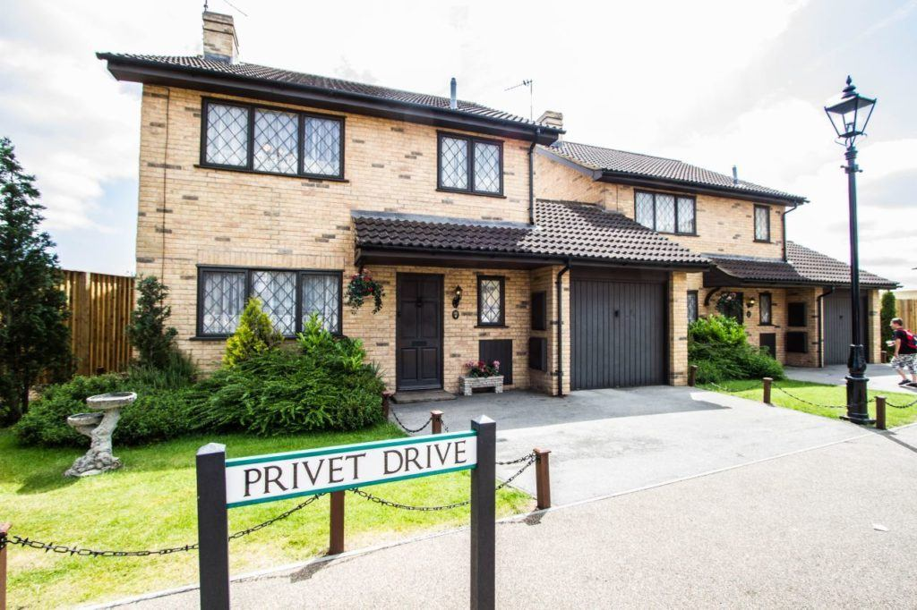 Exterior view of the Dursley House on Privet Drive.