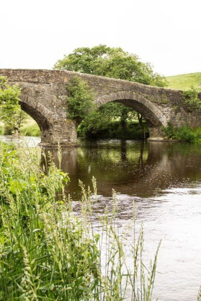 Stone bridge over the River Lune in nearby Yorkshire Dales.