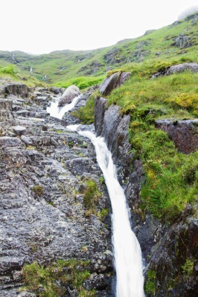 Small waterfall on a Lake District mountainside.