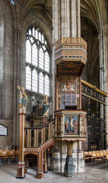 Interior of Canterbury Cathedral,