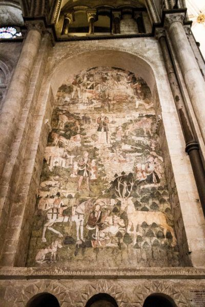 A beautiful fresco inside the cathedral.