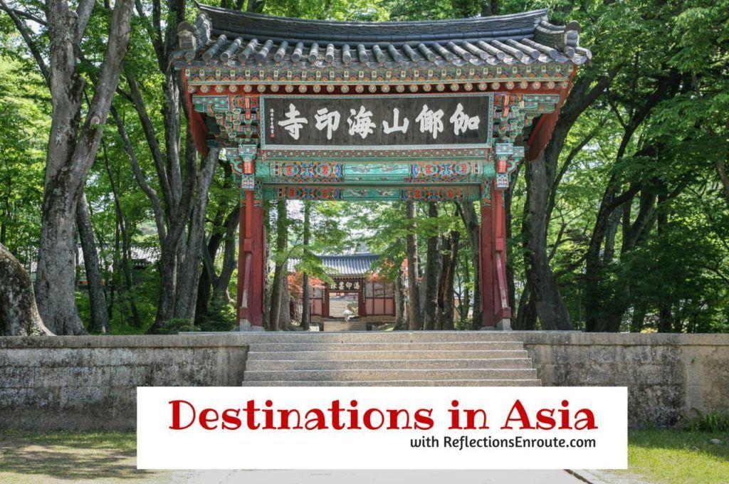 Destinations in Asia.