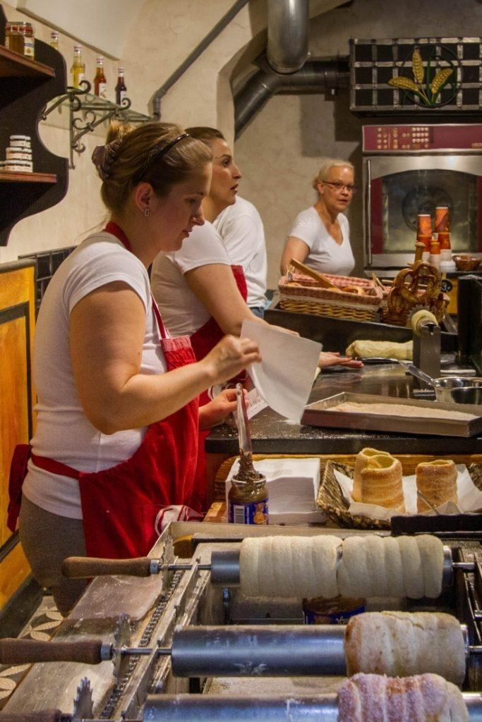 Trdelník is one of the most popular food iand something you should eat when deciding what to do in Prague.