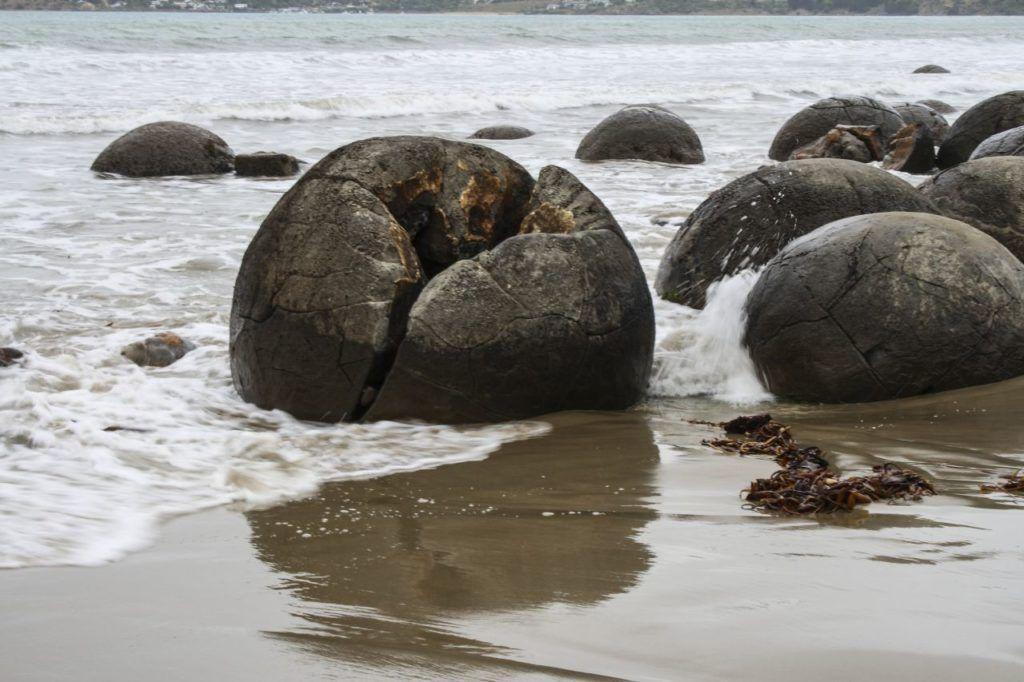 Moeraki Boulders in New Zealand.