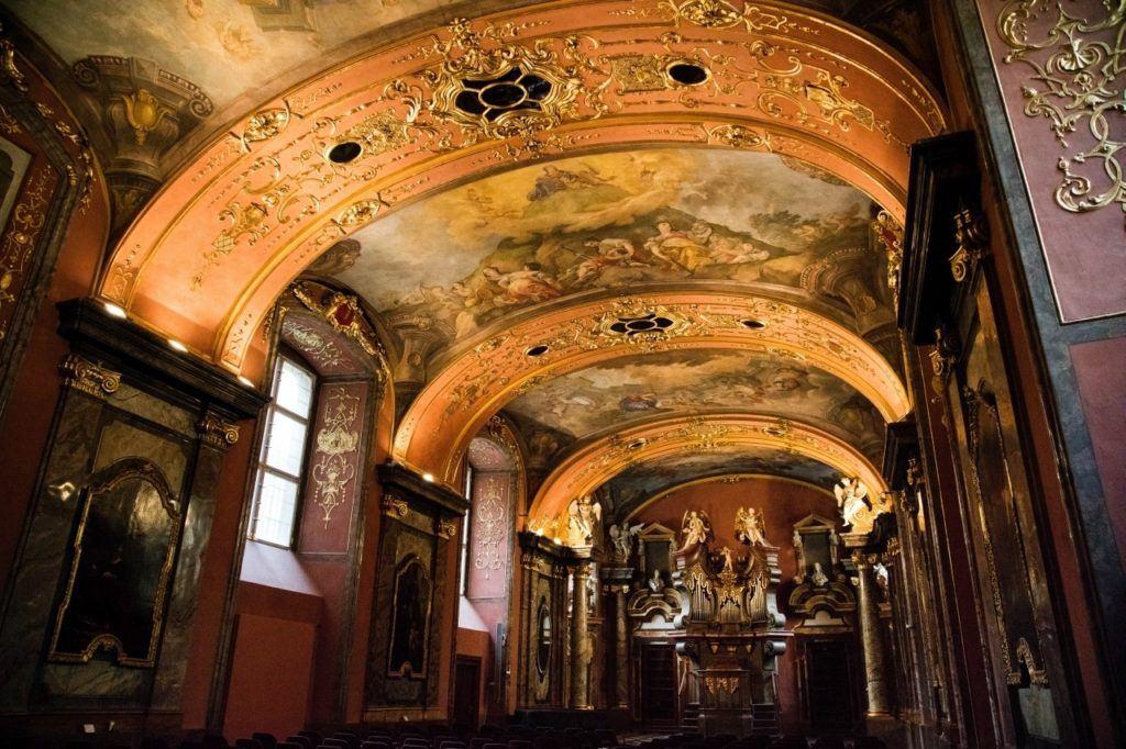 The interior of the Clementium.