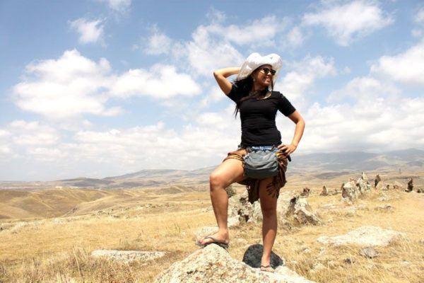 Kach in an Armenian field.