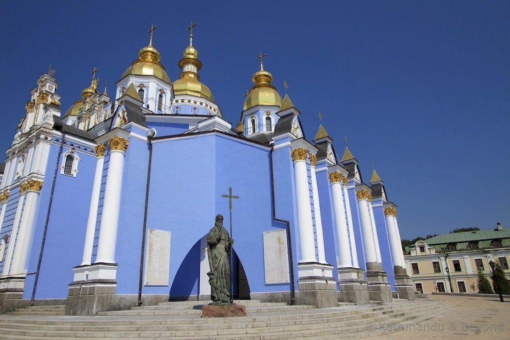 St. Michael's Golden Domed Cathedral in Kiev.