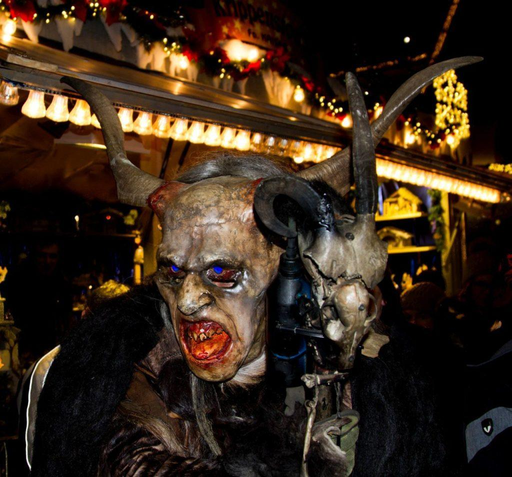 Krampus, scary and fun for kids of all ages.
