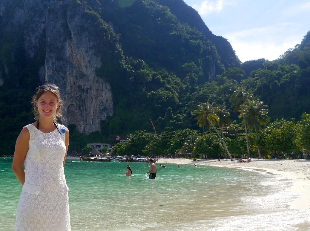 Erika on Koh Phi Phi Island.
