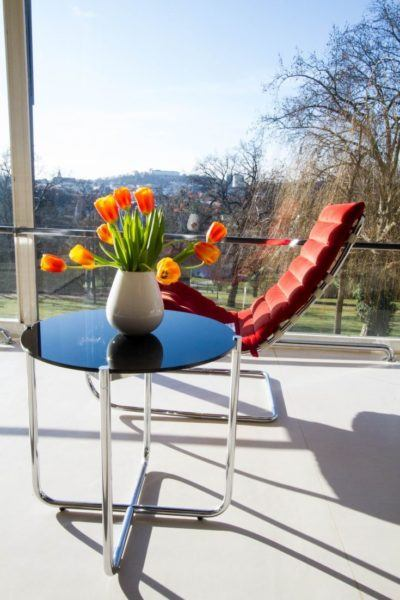Modern Movement style vhair and table in Villa Tugendhat.