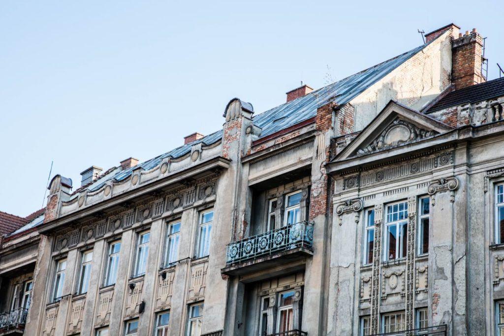 Dilapidated building in Brno still in need of restoraiton.