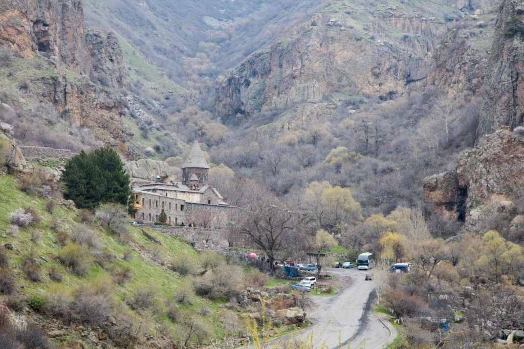 The Geghard Monastery is a popular destination in Armenia.