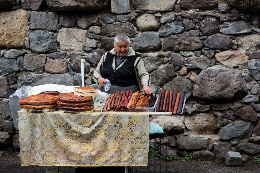 Snack vendor outside the monastery.