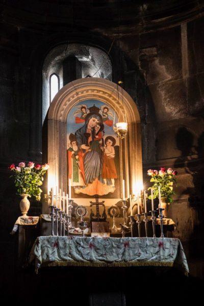 Altar in Geghard Monastery.
