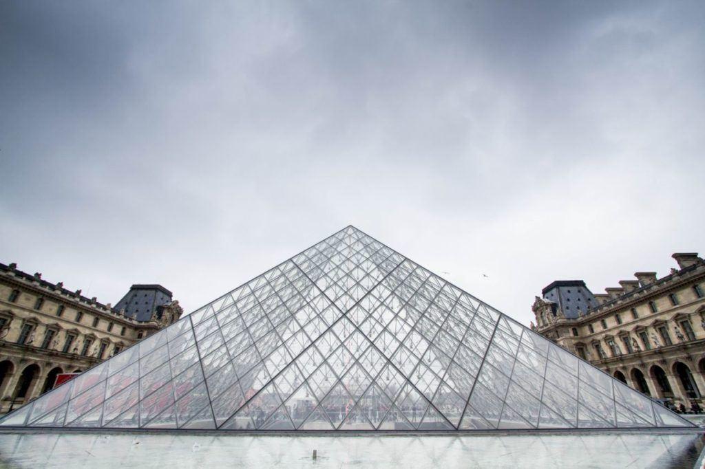 The pyramid over La Louvre.