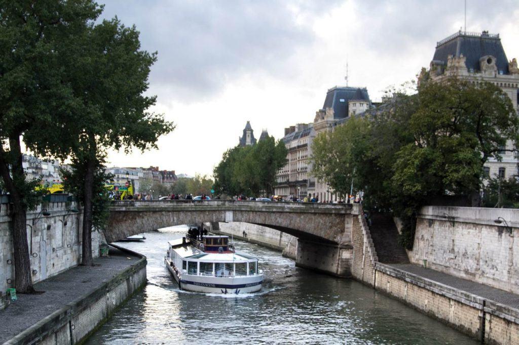 A Seine cruise through Paris.