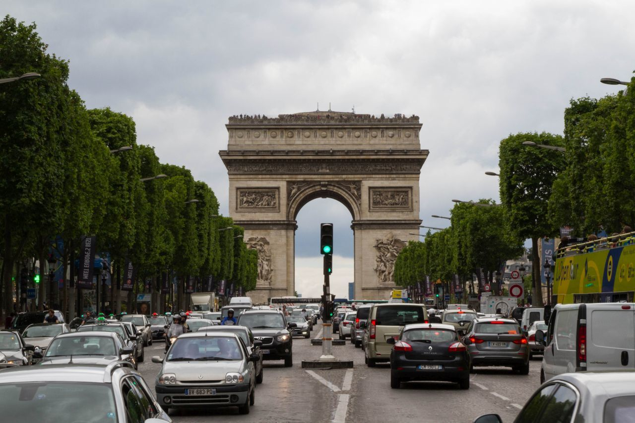 The Arc at the end of the road.