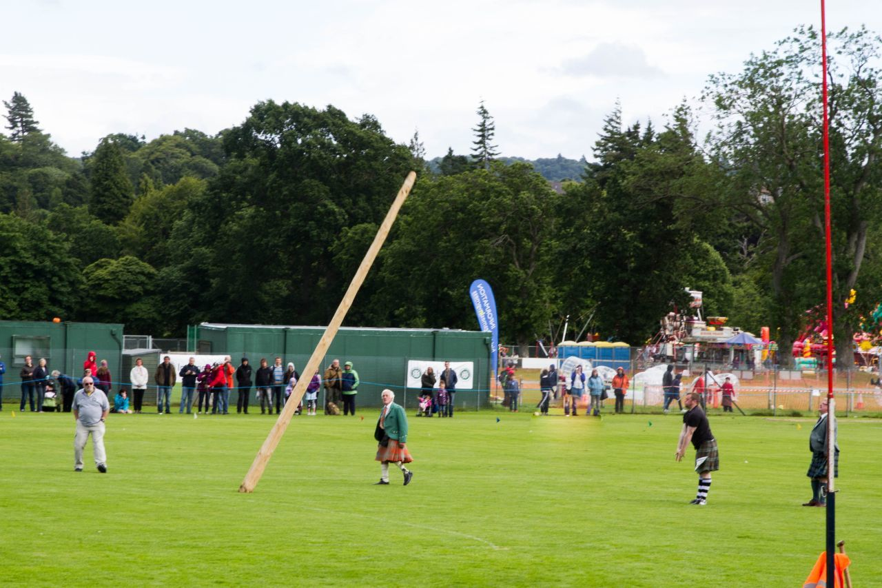 Tossing the caber has been one thing that's been done for centuries at Highland gatherings.