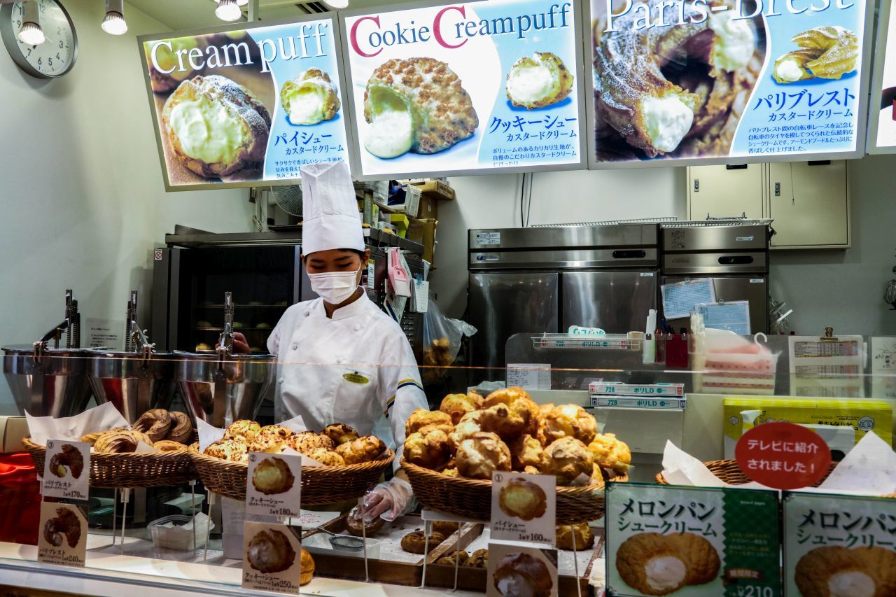 One of the most popular Japanese foods is the not-so-Japanese cream puff pictured here.