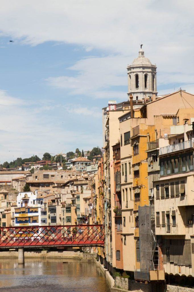 The distinctive river front buildings in Girona.