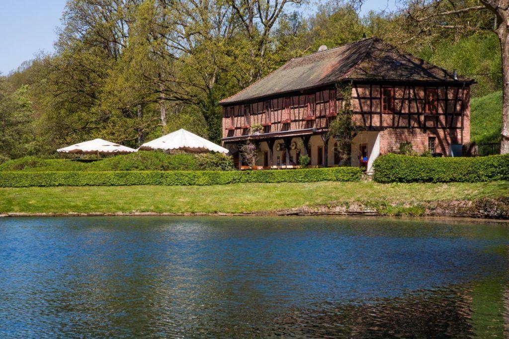 The picturesque estate at Mespelbrunn.