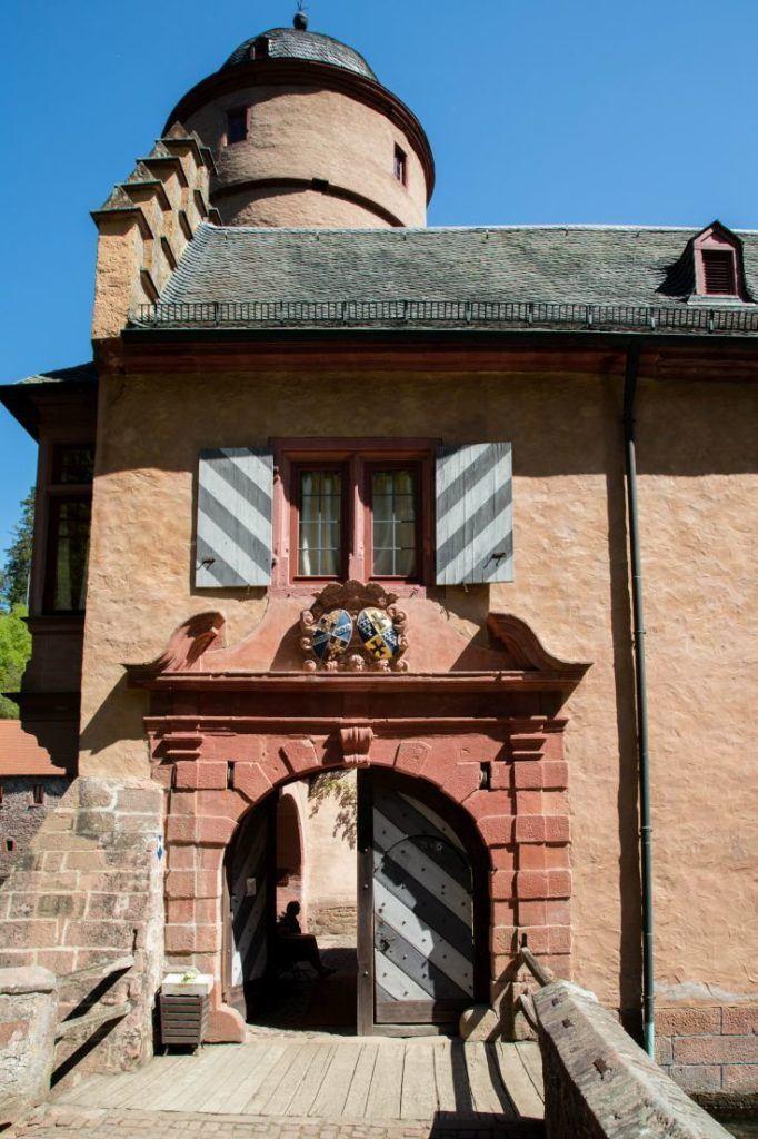 An entranceway into Mespelbrunn Castle or Mespelbrunn Schloss.