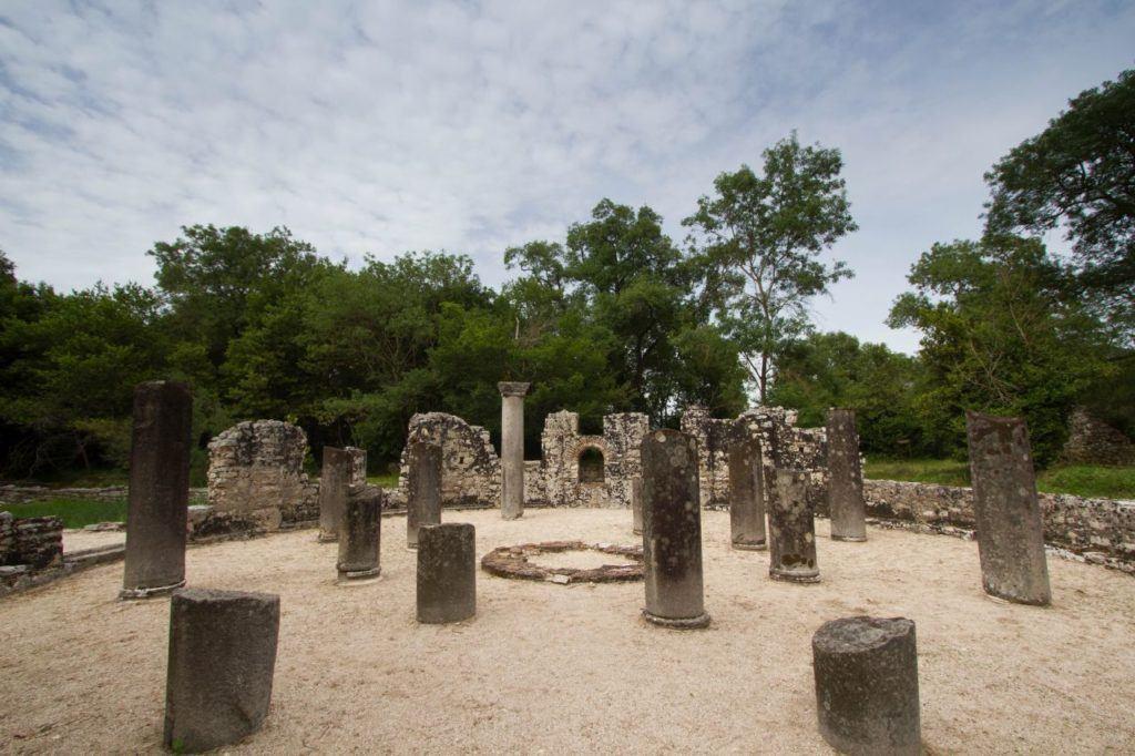 Half columns stand in Butrint.