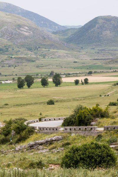 The winding Albanian road.