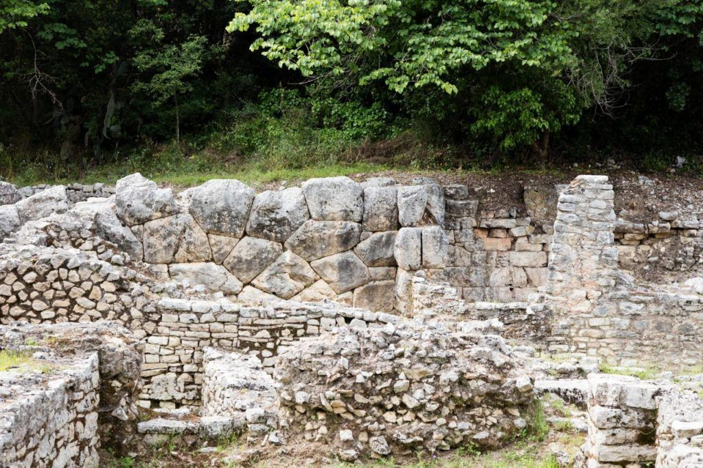 An education in stone size used in the buildings of Butrint.