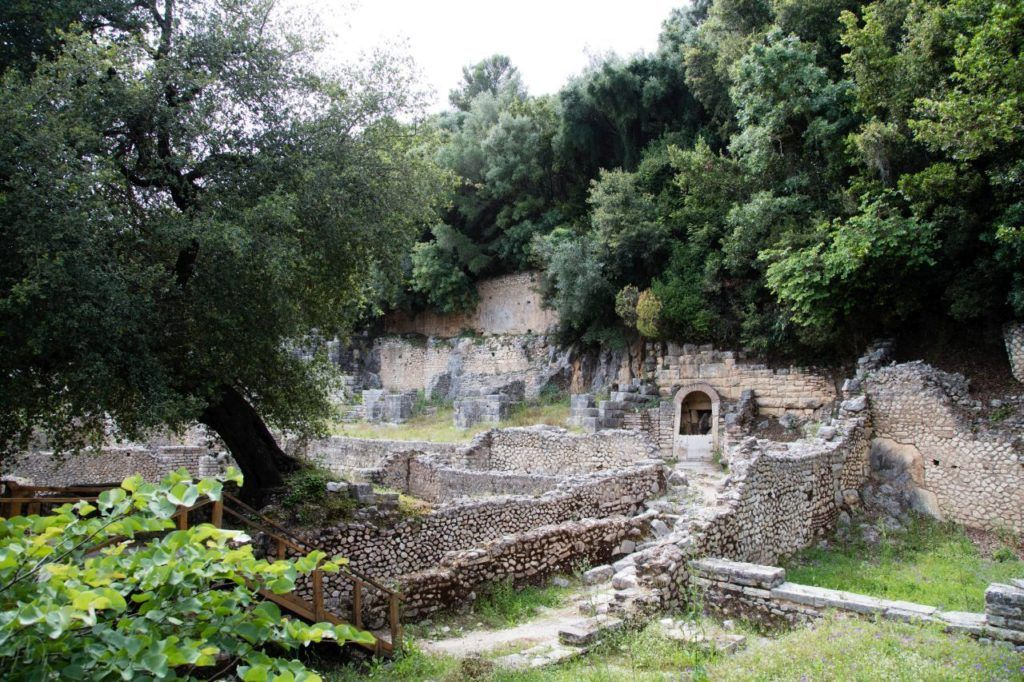 A beautiful site, ruins are tucked up under the greenery in some areas.