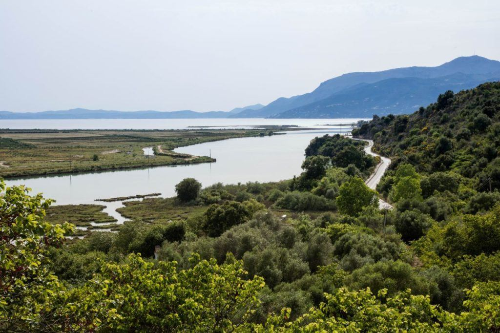 Looking out at the water from Butrint.