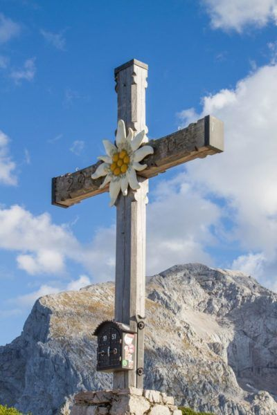 A cross behind the Eagle's Nest.